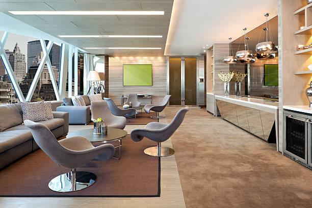 executive-lounge - stuhl neu gestalten stock-fotos und bilder