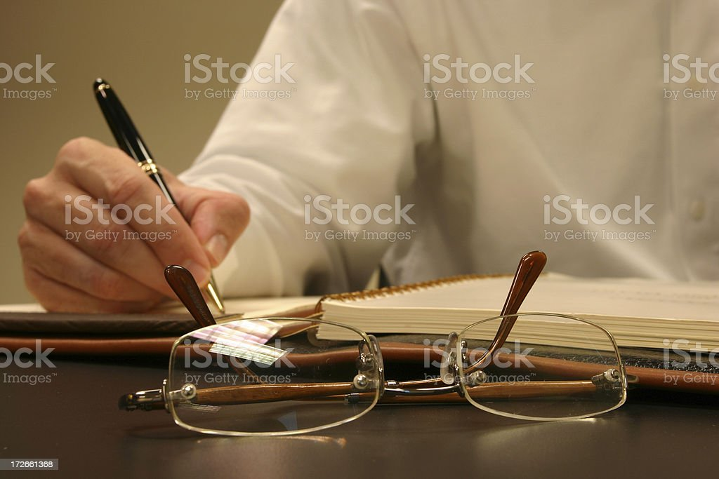 Executive notes royalty-free stock photo