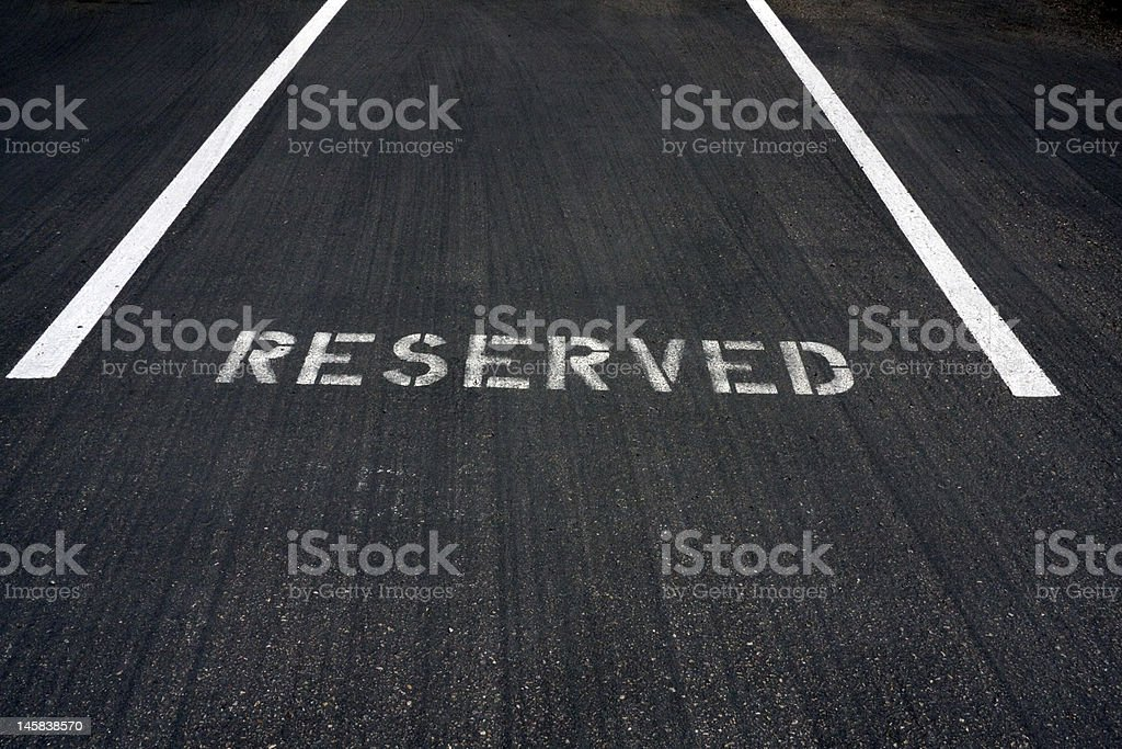 Executive Parking Place royalty-free stock photo