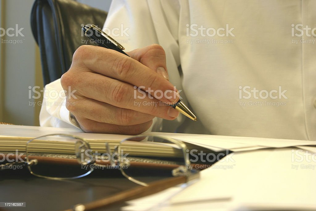 Executive Review royalty-free stock photo