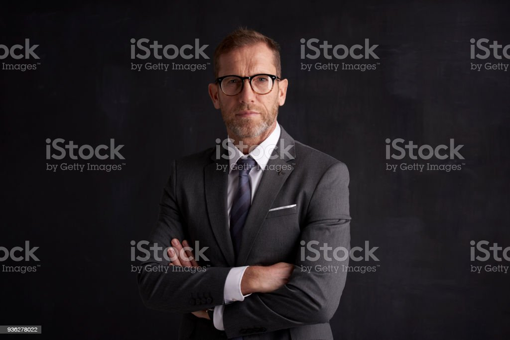 Executive senior businessman portrait royalty-free stock photo