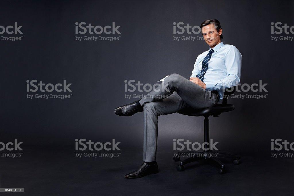 Executive taking break royalty-free stock photo