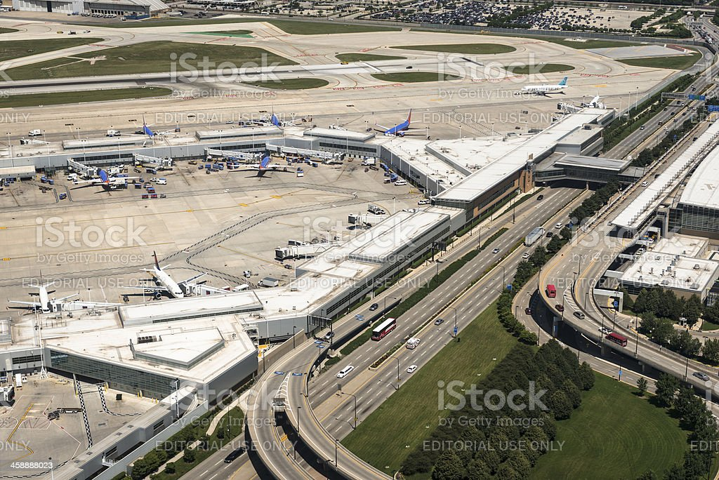 Executive terminal airport in chicago stock photo