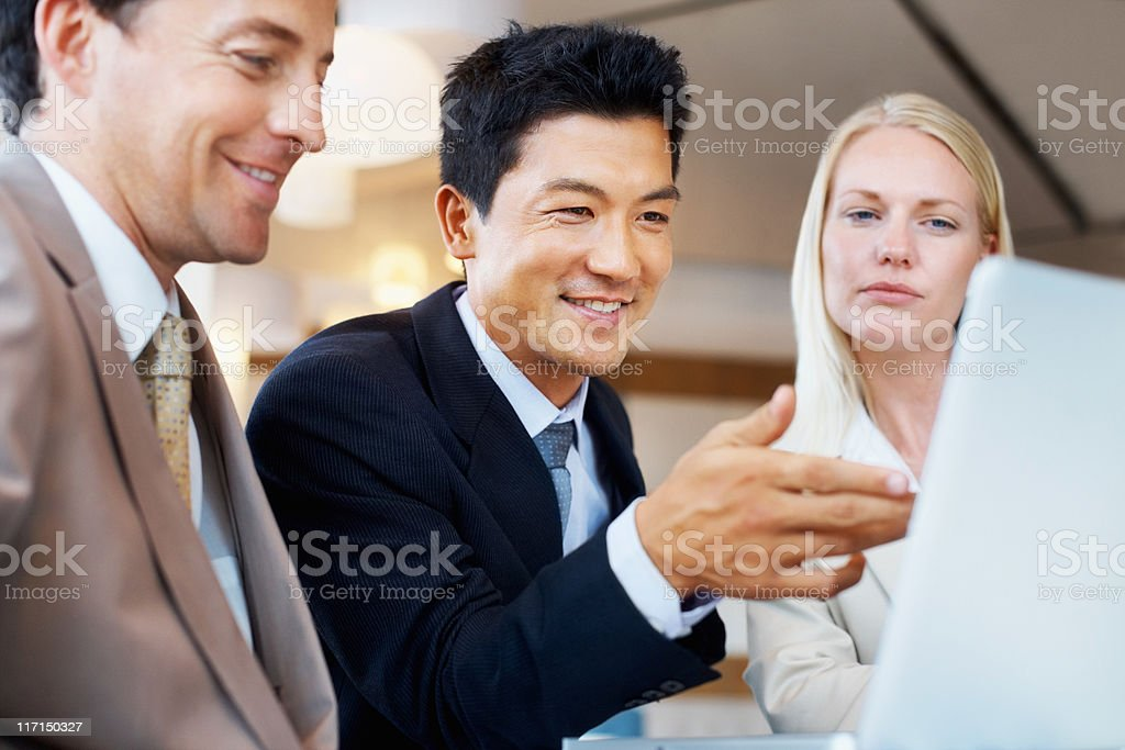 Executives concentrating on a project royalty-free stock photo