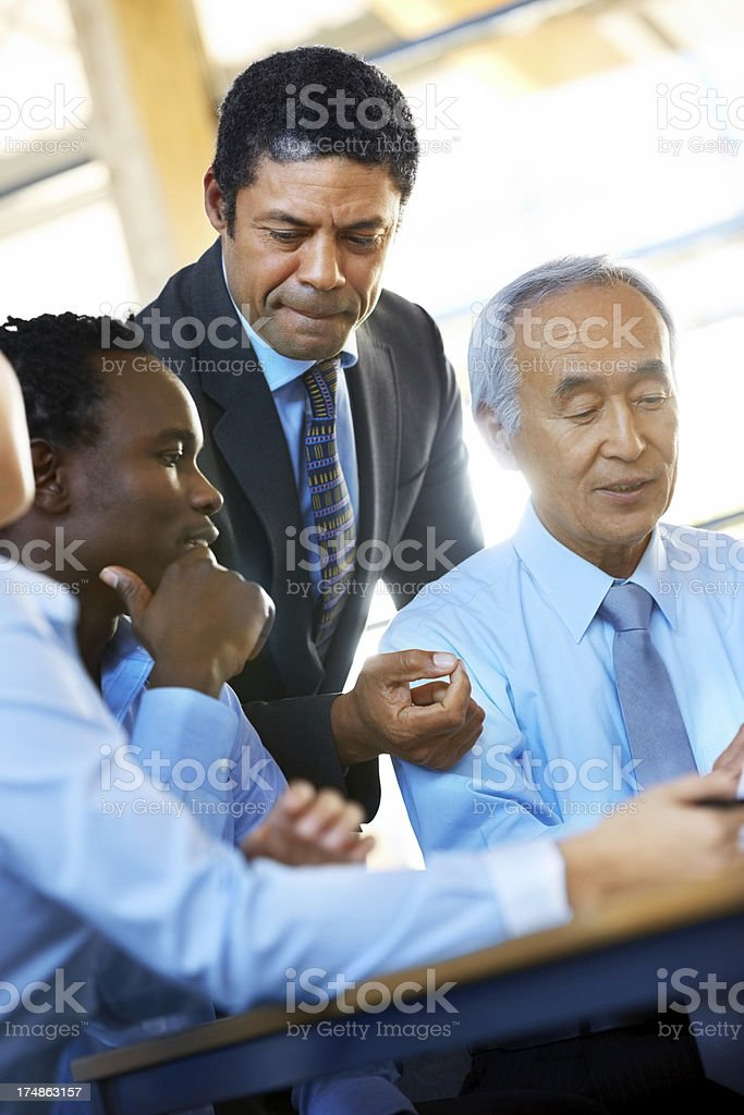 Executives discussing during a meeting royalty-free stock photo