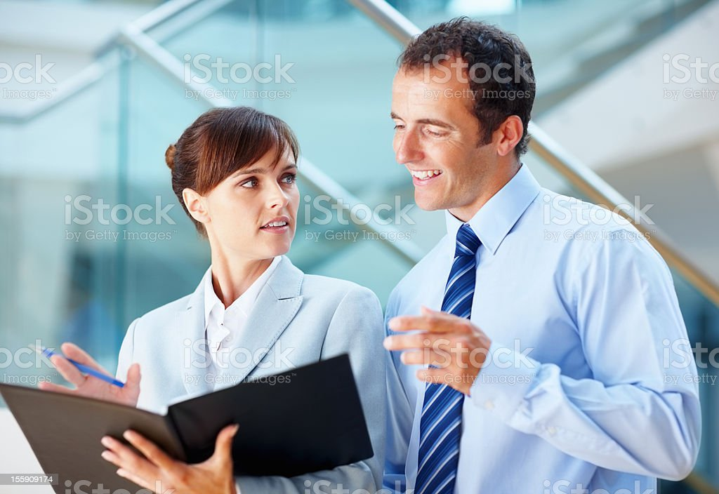 Executives discussing ideas royalty-free stock photo