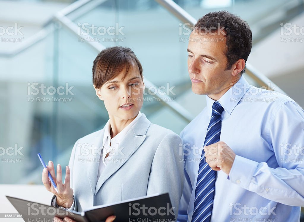 Executives going over plans royalty-free stock photo