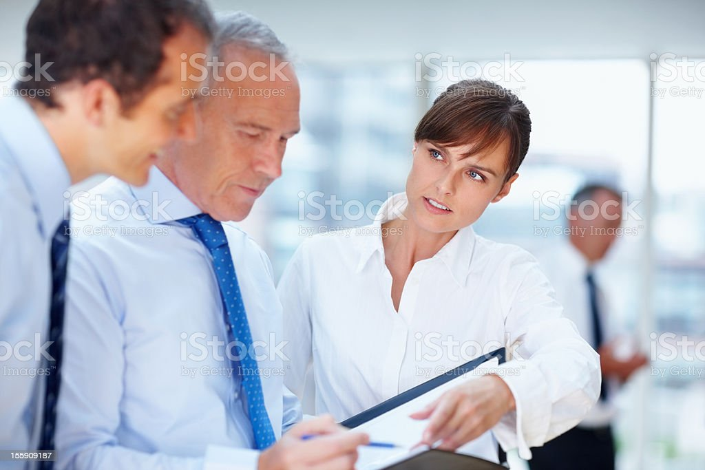 Executives going over proposal royalty-free stock photo