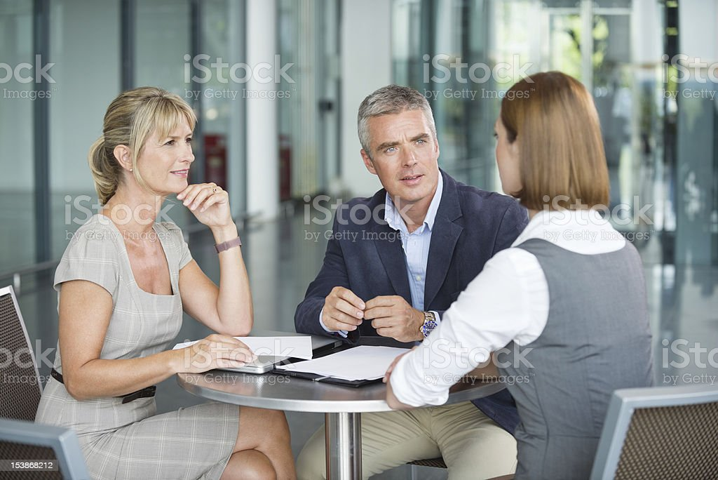 Executives In Meeting royalty-free stock photo