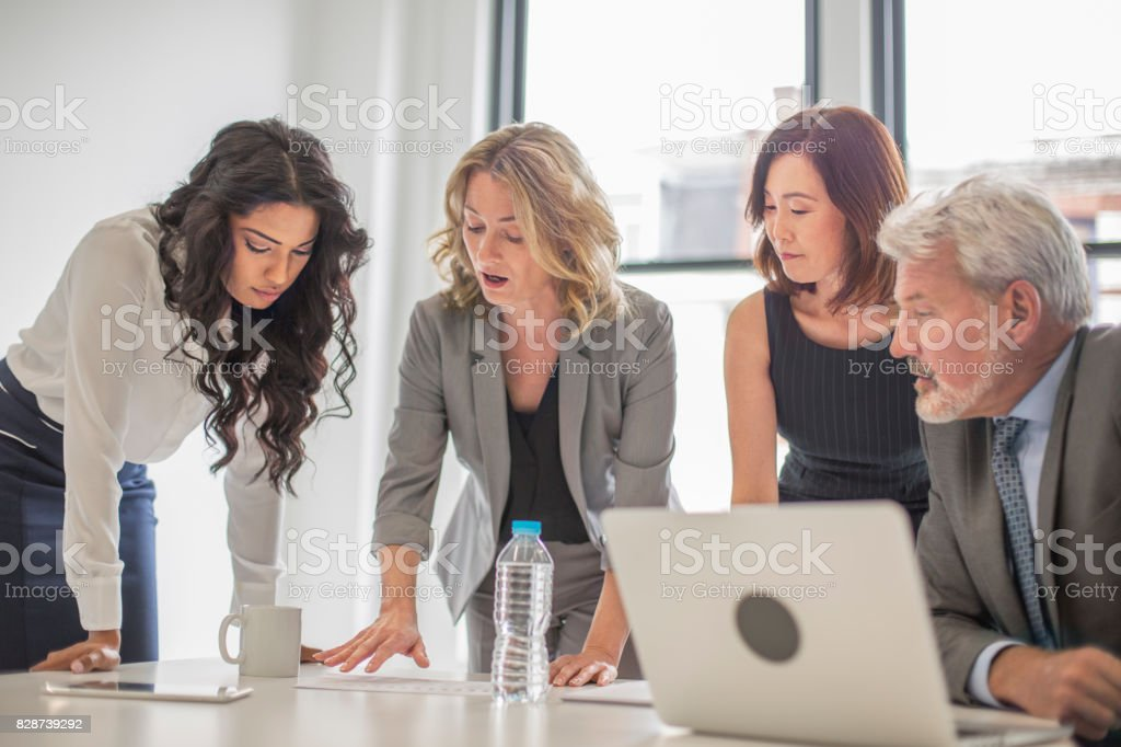 Executives making a joint decision stock photo