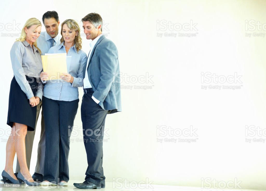 Executives reviewing proposal royalty-free stock photo