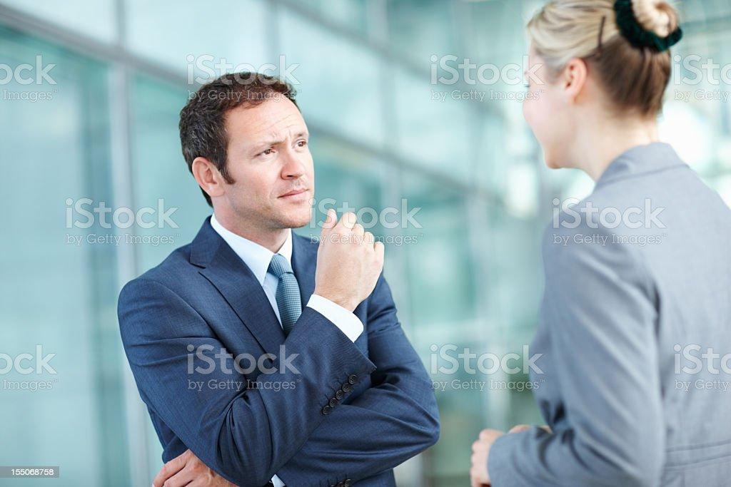 Executives talking business royalty-free stock photo