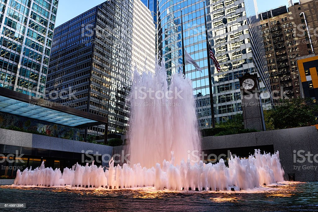 Exelon Plaza Fountain, The Loop, downtown Chicago stock photo