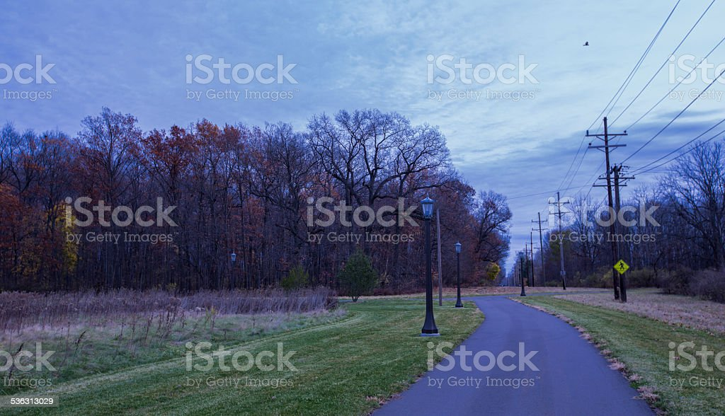 Exercise and Jogging trail stock photo