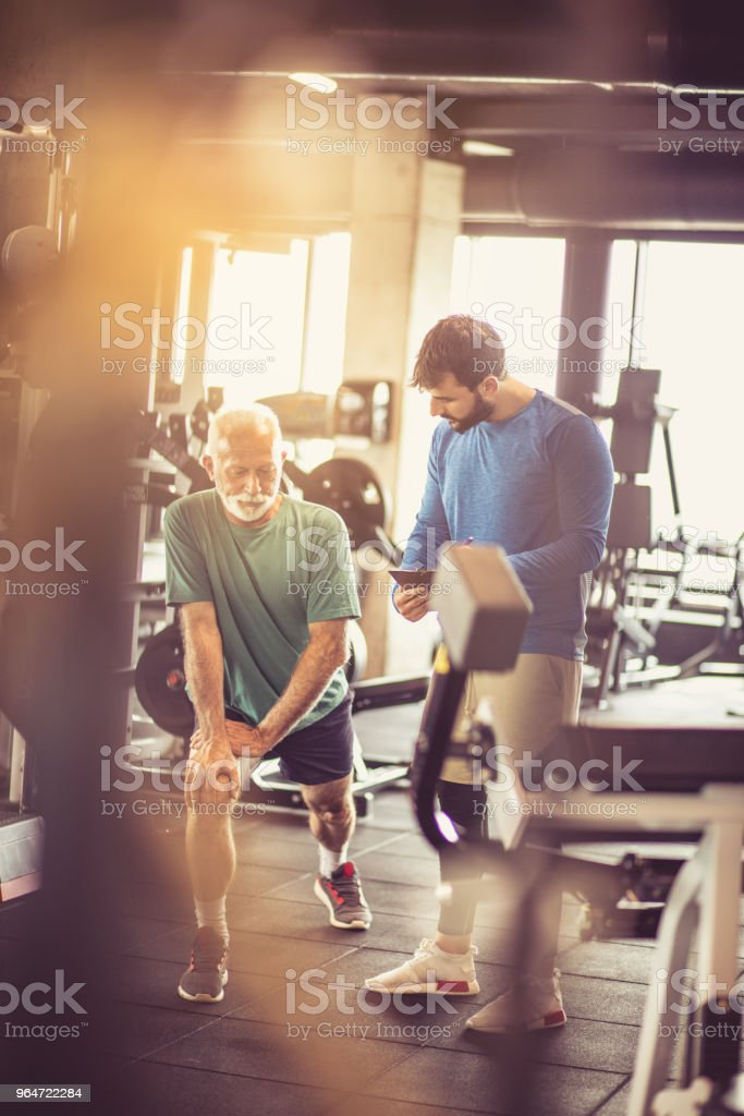 Exercise and talk. royalty-free stock photo