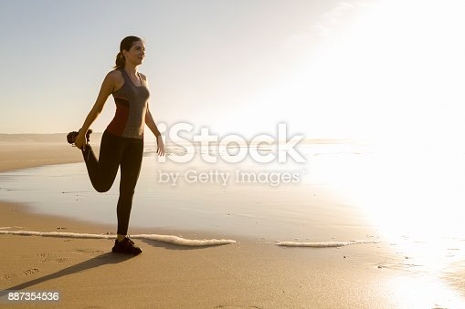 887354516istockphoto Exercise at the beach 887354536