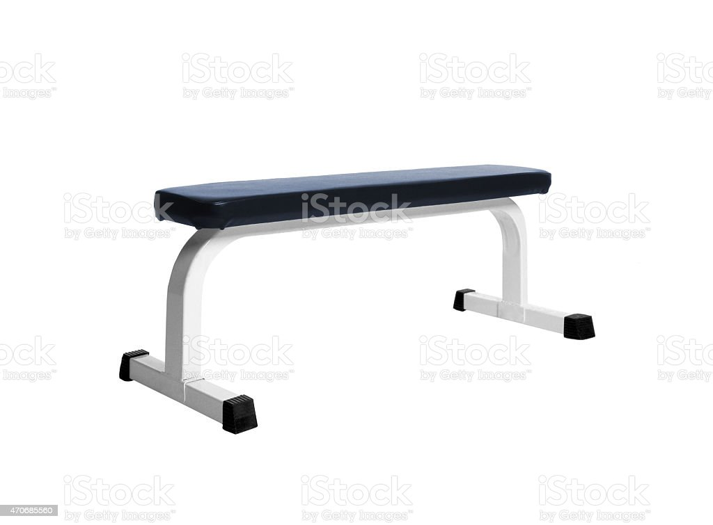 Exercise bench stock photo