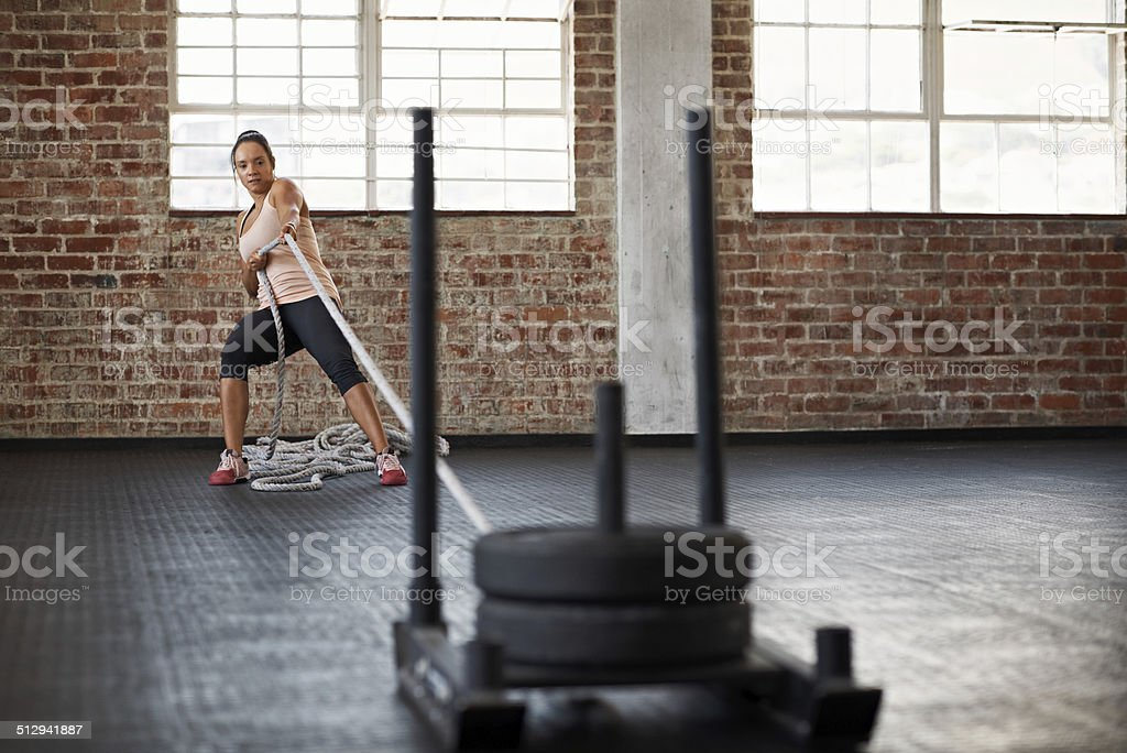 Exercise can be a real drag stock photo