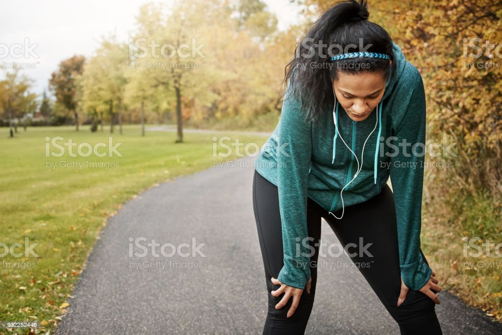 Exercise can be challenging. Do it anyway stock photo
