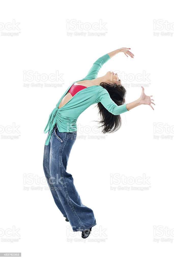 Exercise dance royalty-free stock photo
