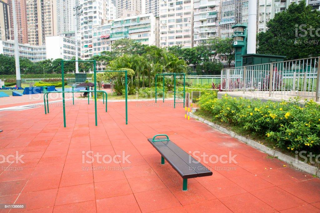 exercise facilities stock photo