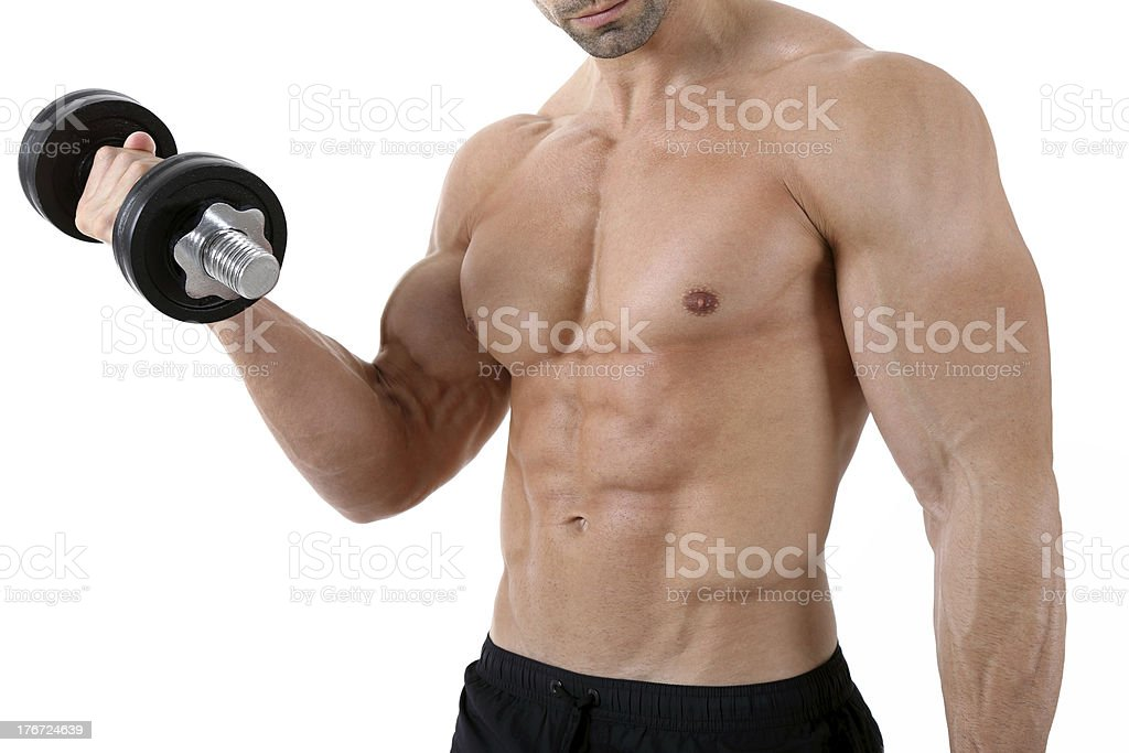 Exercise for biceps royalty-free stock photo