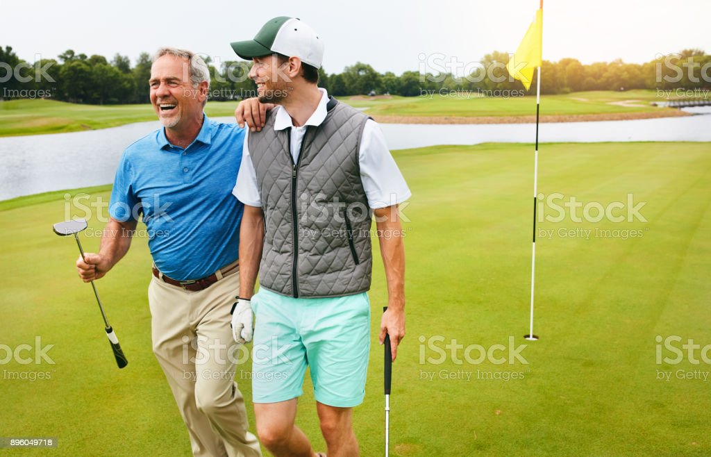 Exercise, fresh air, friends and laughter stock photo
