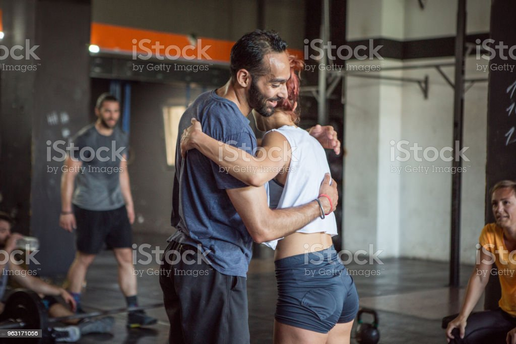 Exercise hard to stay in shape stock photo