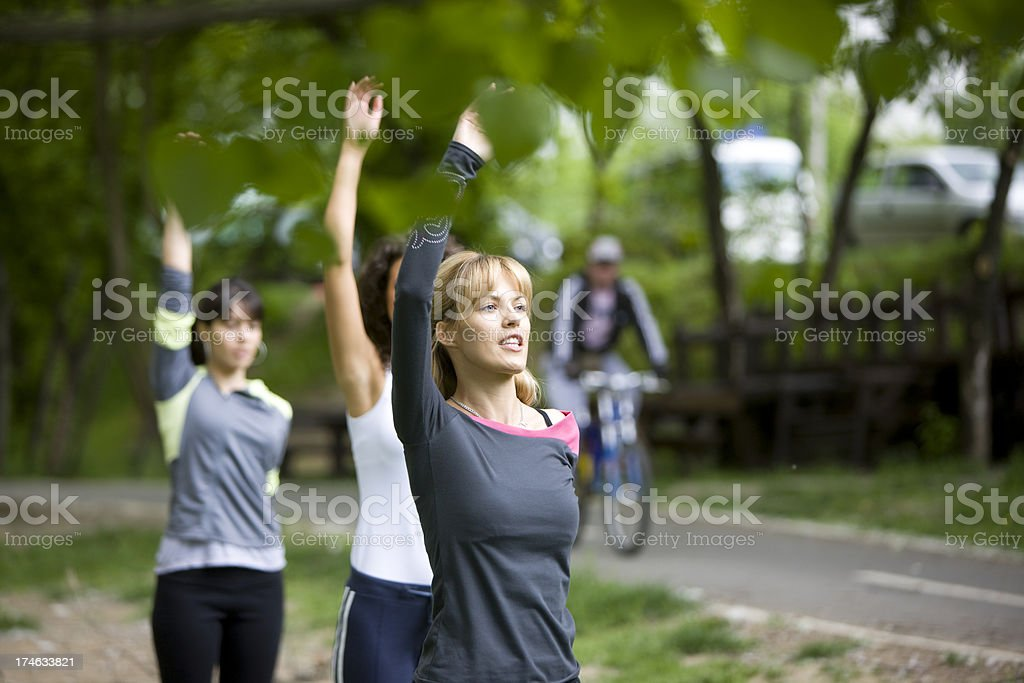 Exercise in nature royalty-free stock photo