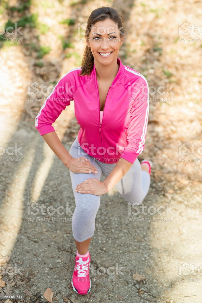Exercise In Nature royalty free stockfoto