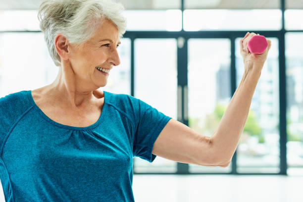 Exercise is an important part of everyone's everyday health stock photo