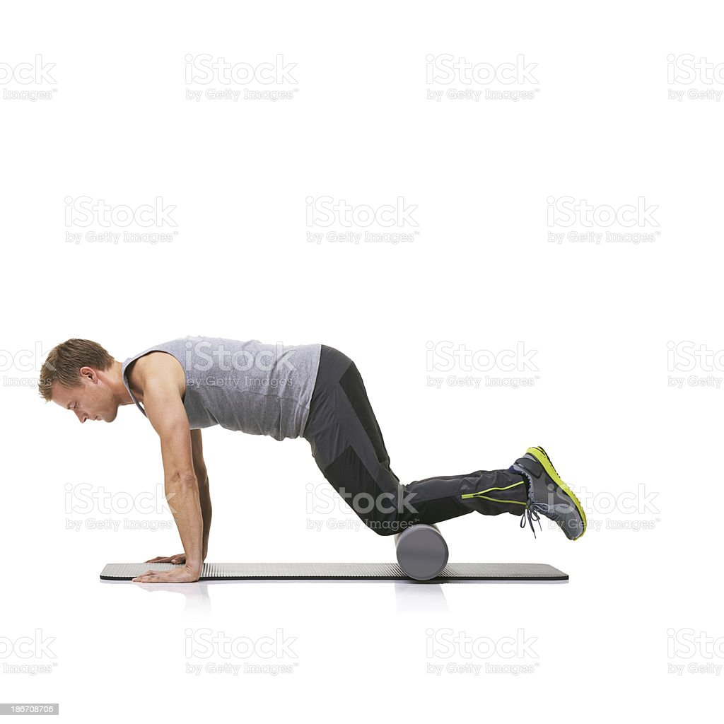 Exercise is part of his daily routine royalty-free stock photo