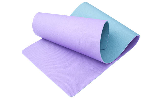 Exercise mat stock photo