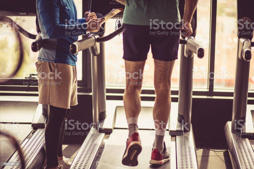 Exercise on treadmill. royalty-free stock photo