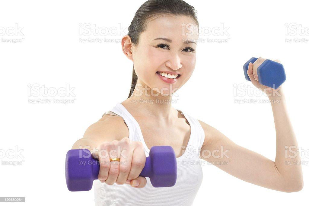 Exercise punch royalty-free stock photo