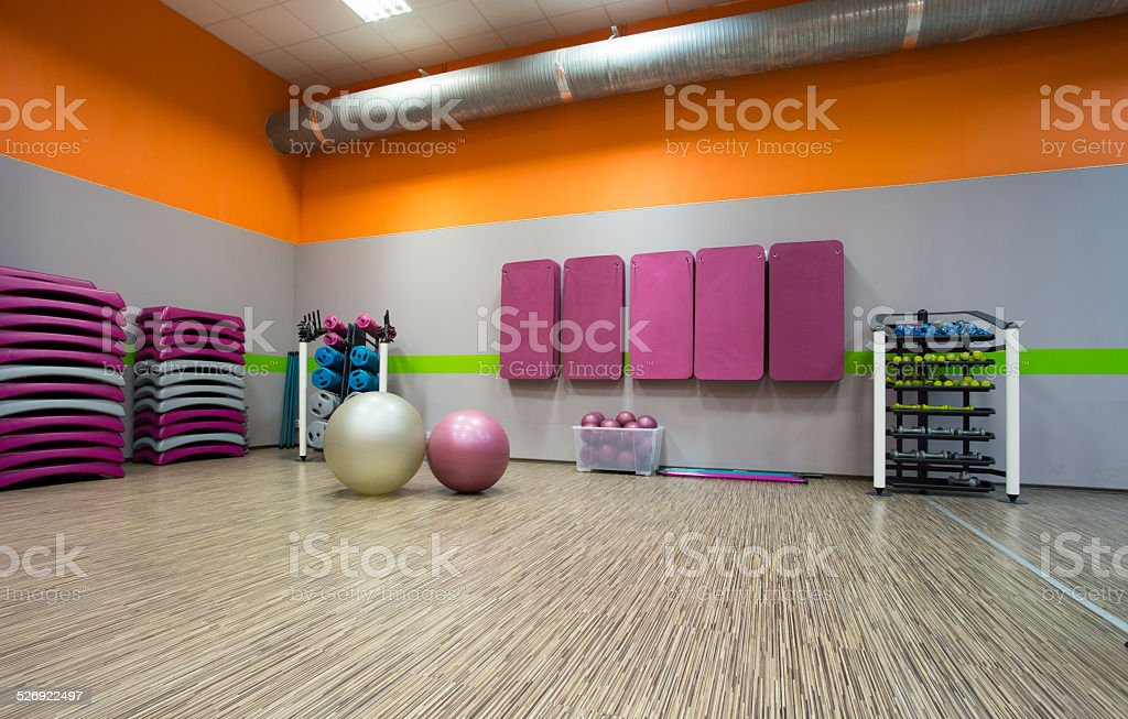 Exercise room stock photo