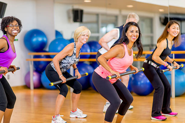 Exercise Strength Training Class stock photo