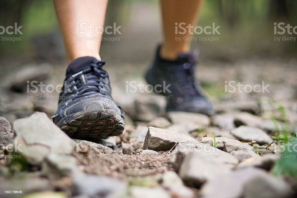 Exercise trail walking royalty-free stock photo