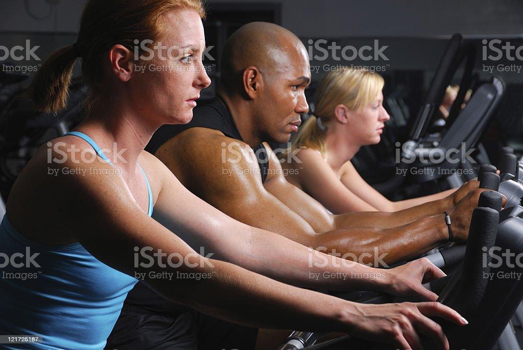 Exercise Trio royalty-free stock photo