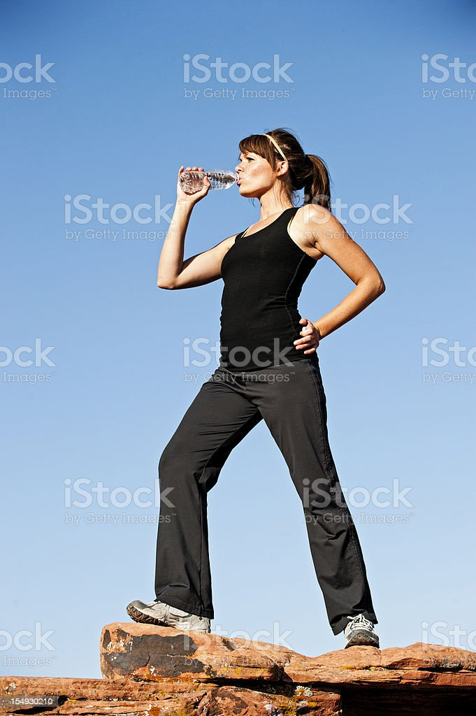 Exercise Water Break royalty-free stock photo