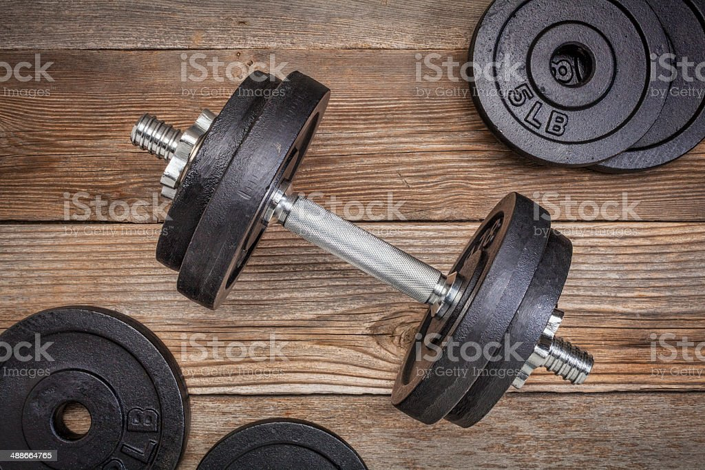 exercise weights stock photo