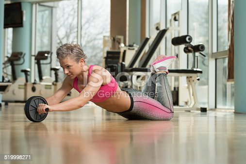 istock Exercise Whit A Ab Roller 519998271
