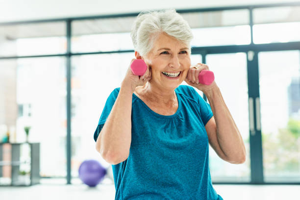 Exercise will help you to age gracefully stock photo