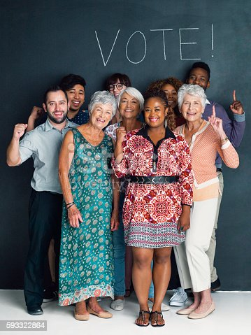 istock Exercise your right to vote! 593322864
