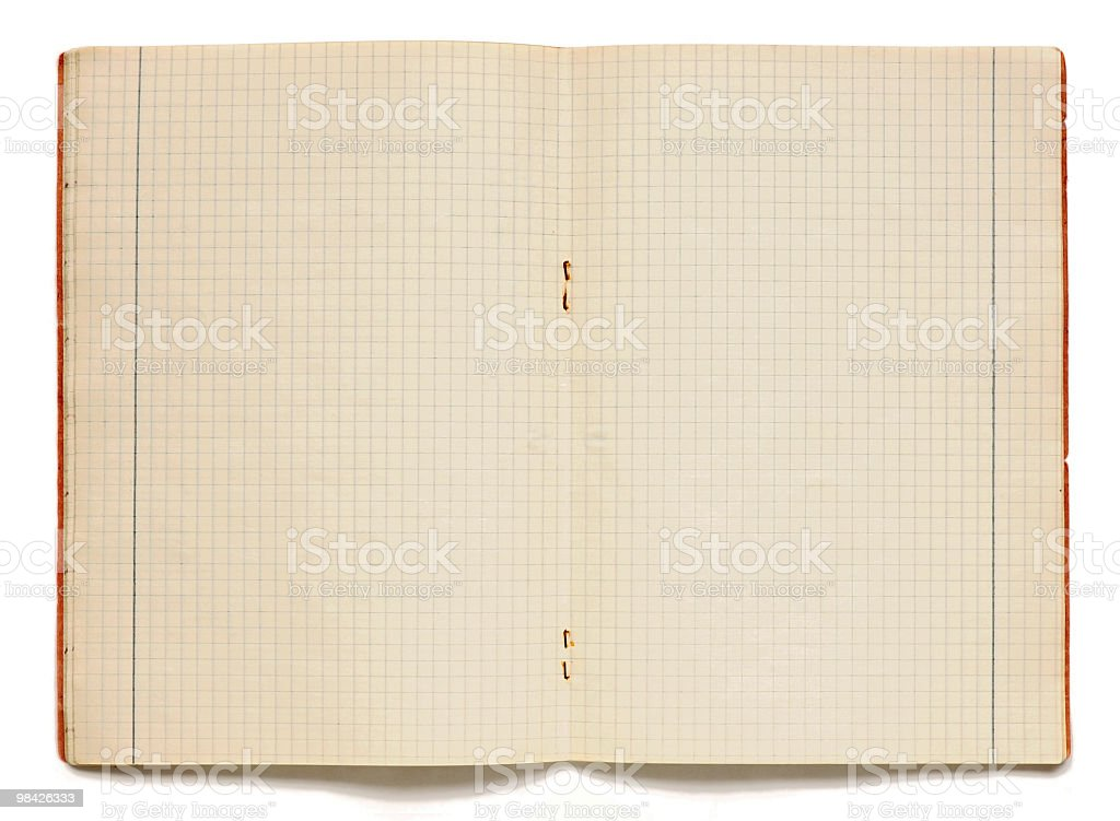 Exercise-book with Checked Pages royalty-free stock photo
