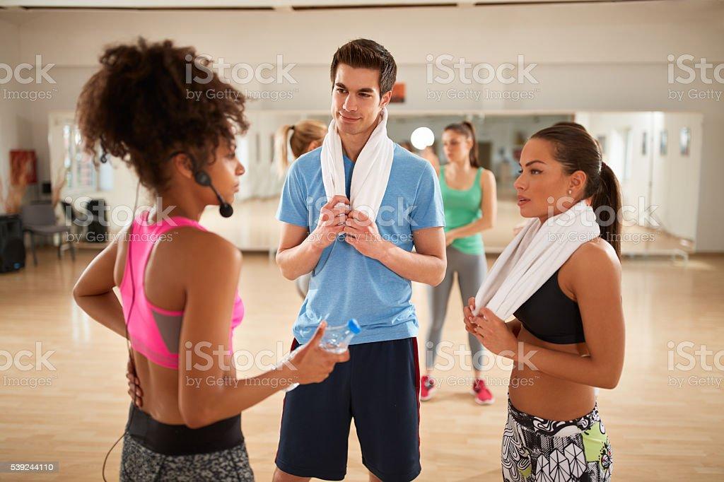 Exercisers on brake of training royalty-free stock photo