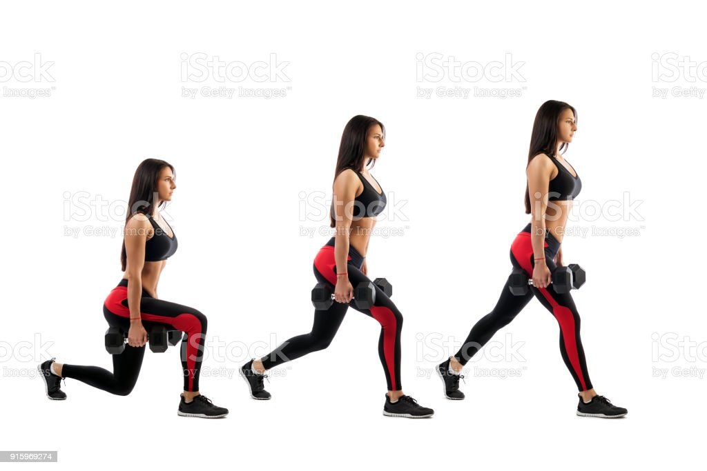 Exercises for the buttocks stock photo