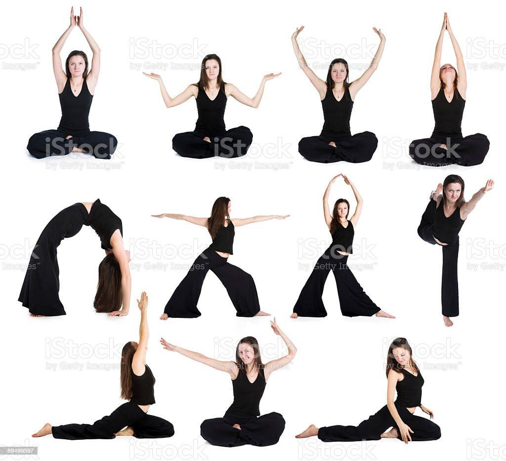 Exercises of yoga royalty free stockfoto
