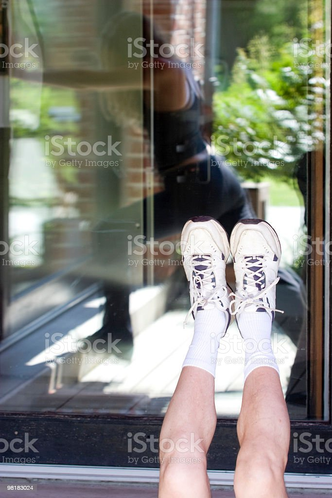 exercising and family gymn royalty-free stock photo
