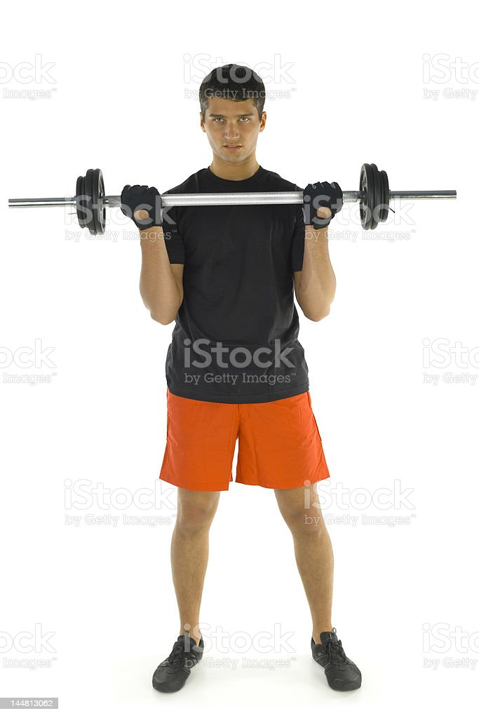 Exercising arms muscles royalty-free stock photo
